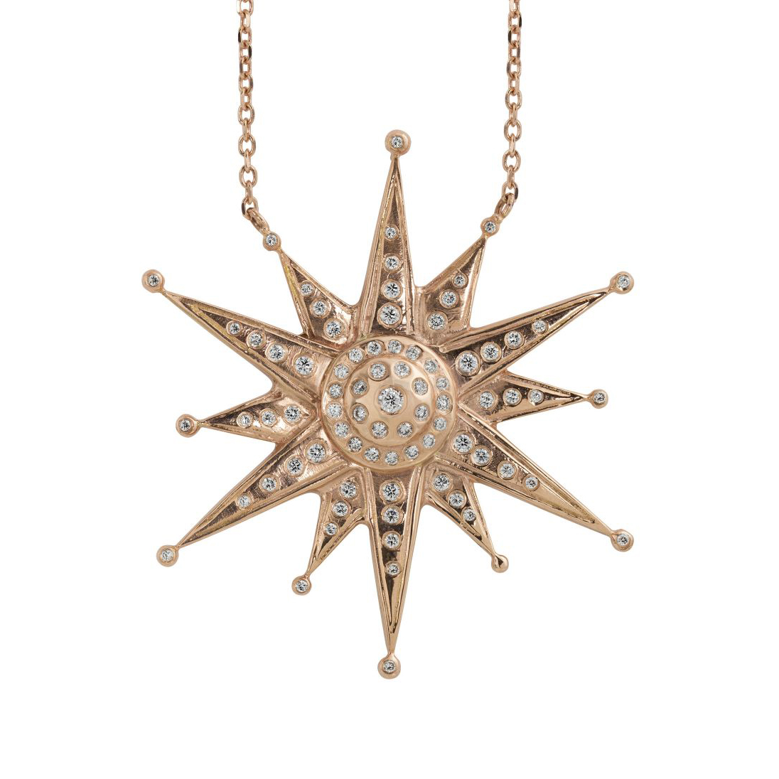 Julez Bryant 14k Extra Large Ninja Star Pendant Necklace