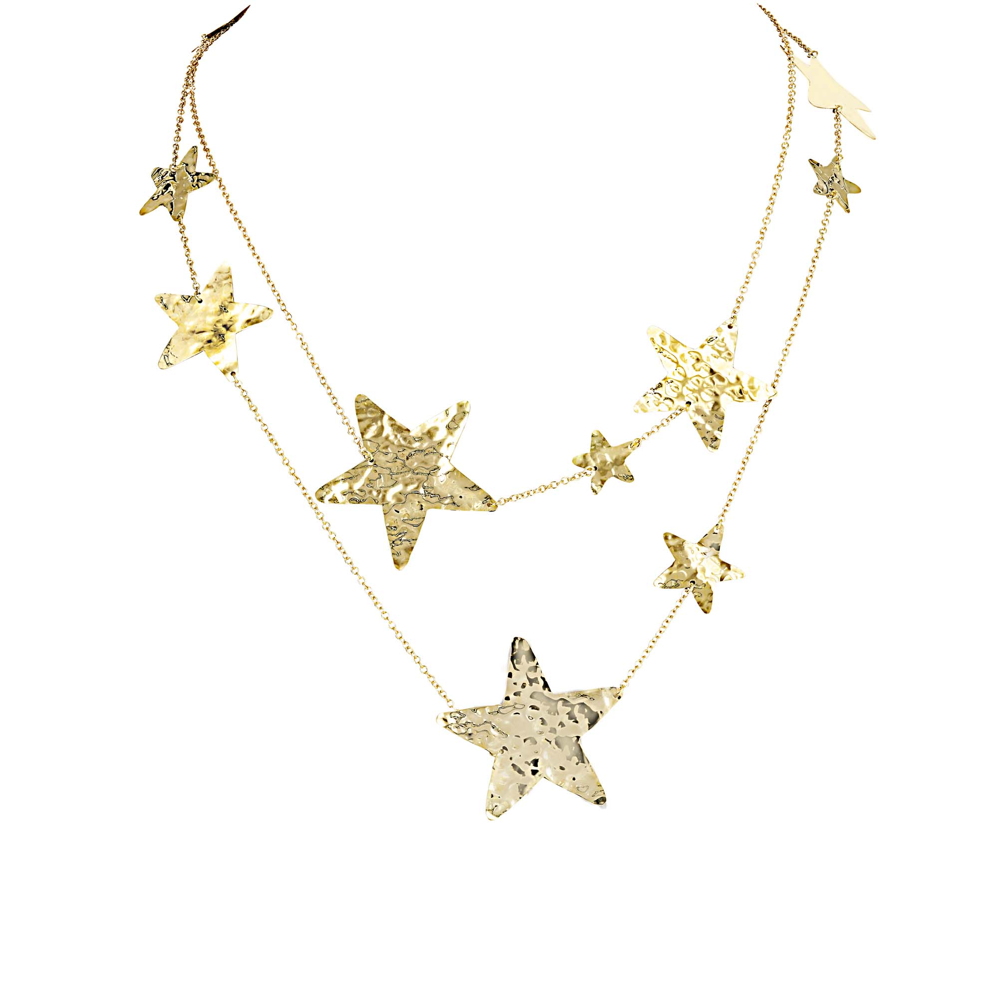 Marco Gerbella 18k Hammered Star Necklace