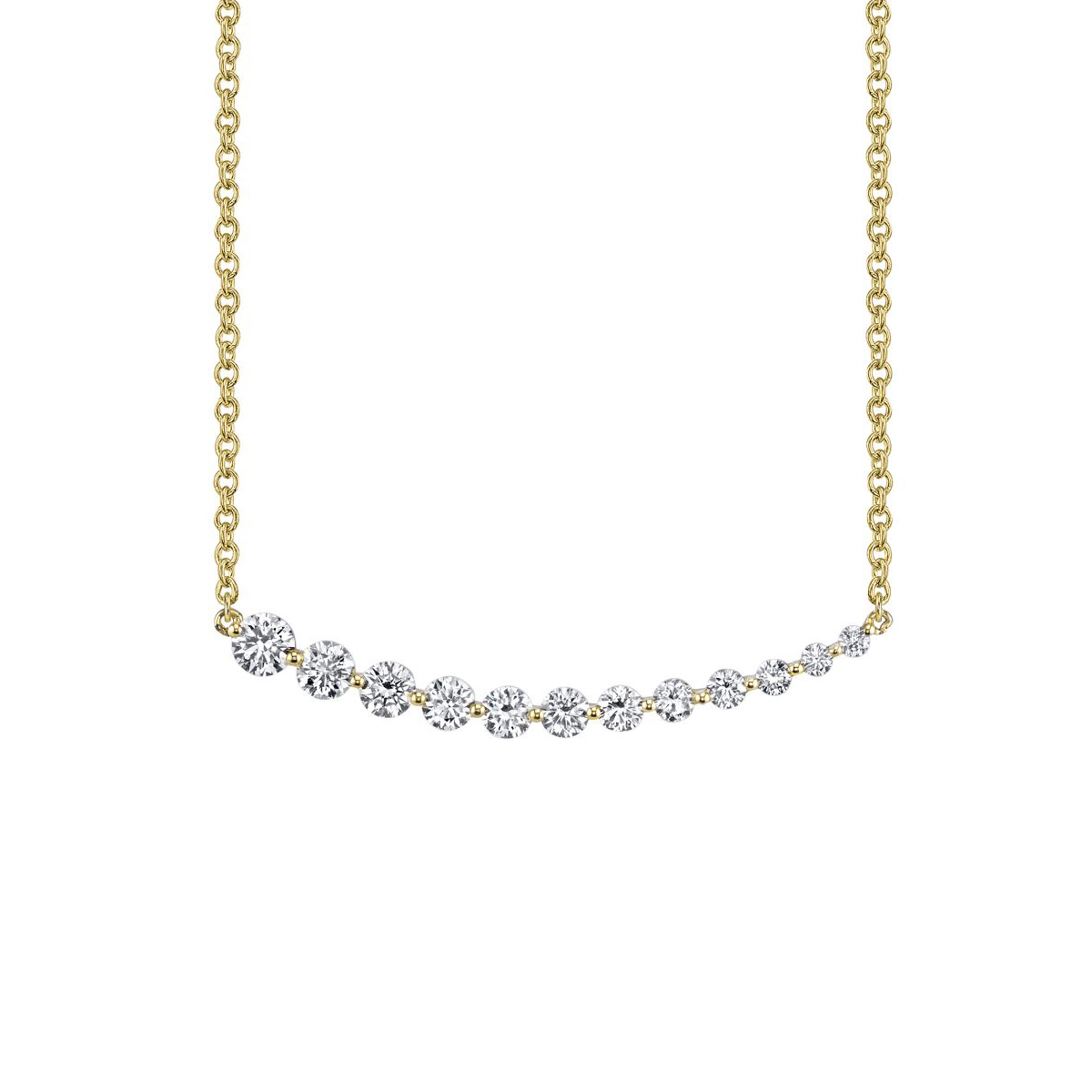 Anita Ko 18k Gold Graduating Diamond Necklace