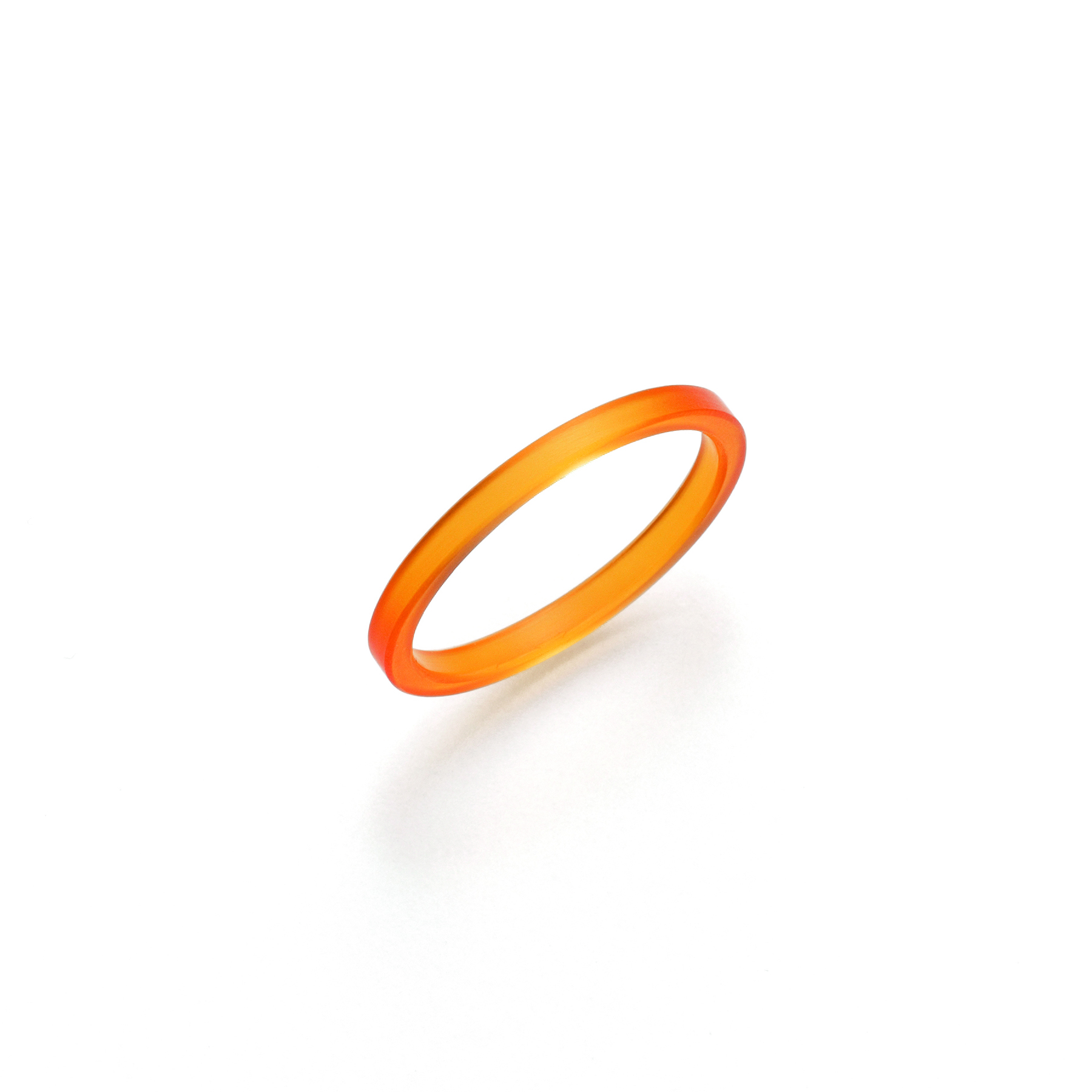 London Collection 2mm Orange Acrylic Ring