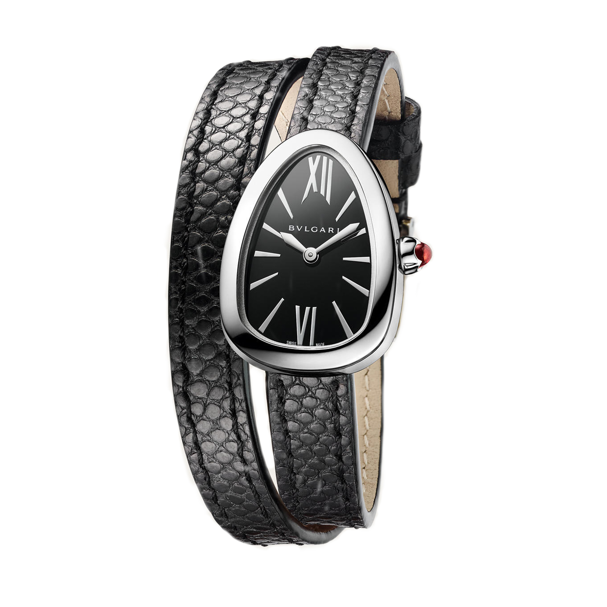 Bulgari Serpenti Stainless Steel 27mm Black Watch