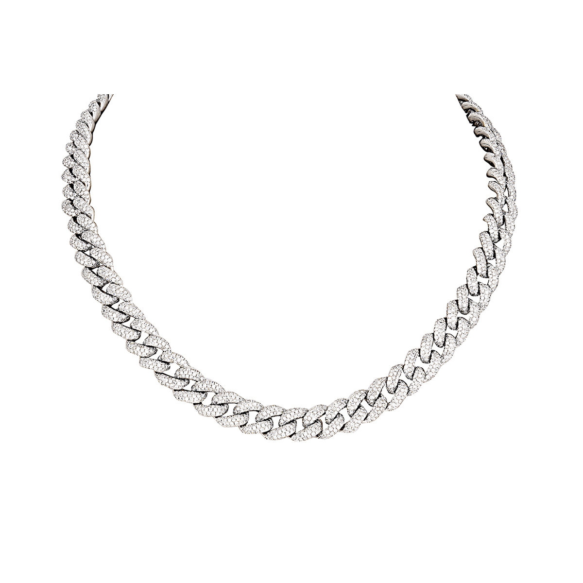 Shay 14k Pave Diamond Curb Necklace