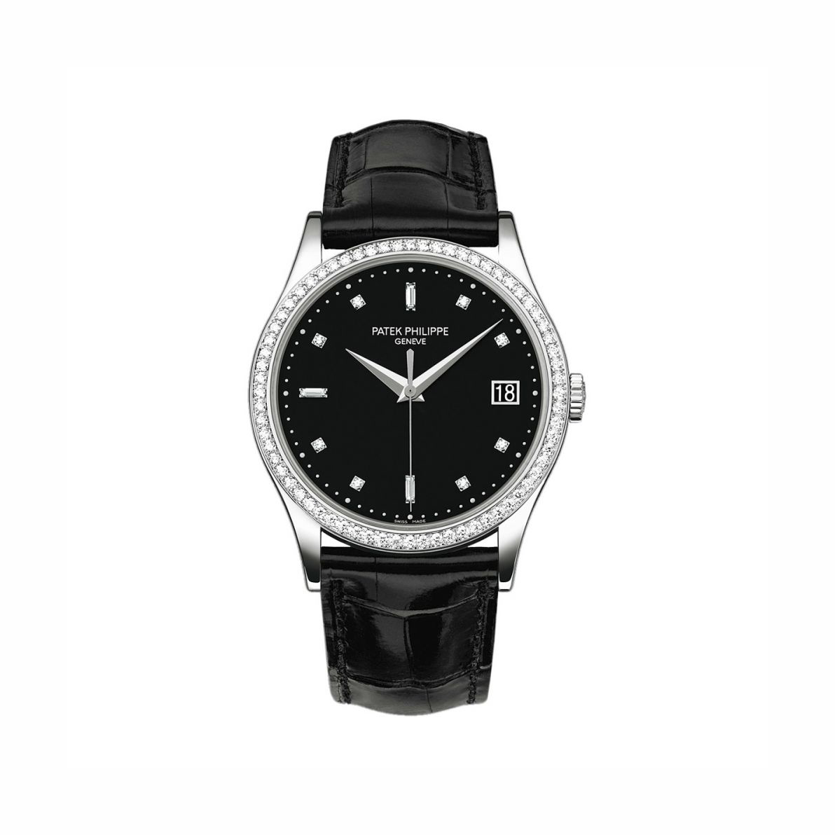 Patek Philippe Black Dial Diamond Calatrava