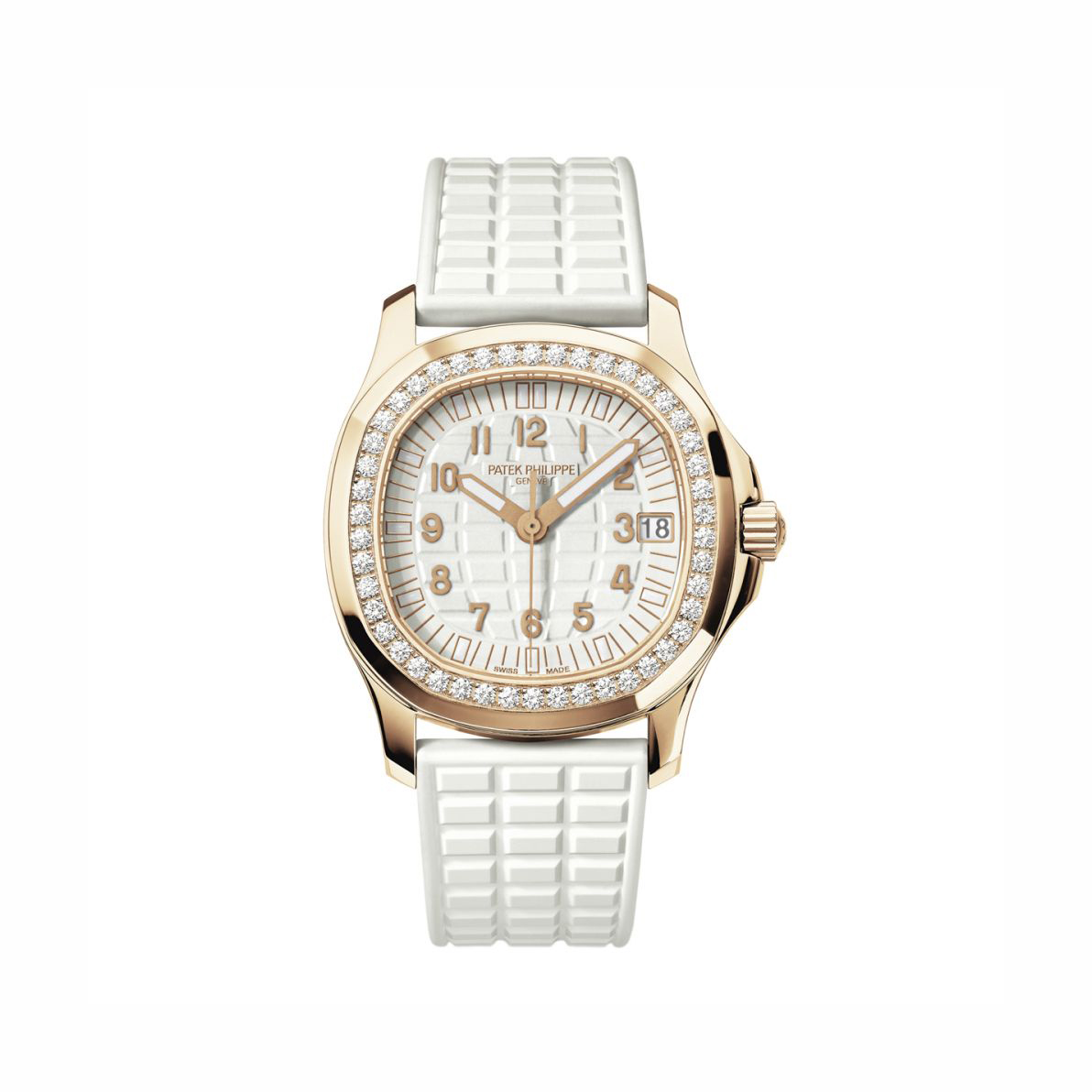 Patek Philippe Rose Gold Diamond Aquanaut Luce Pure White