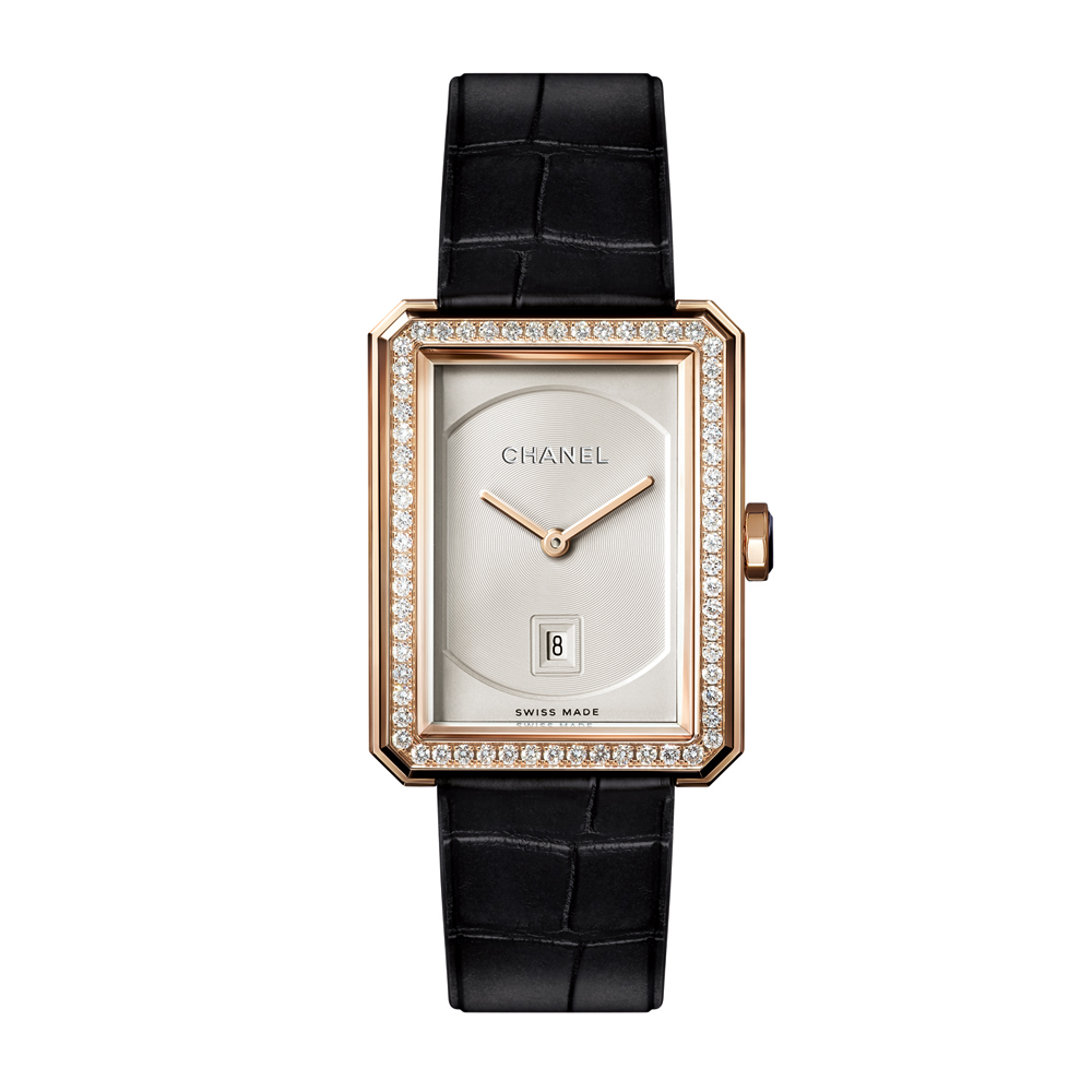 Chanel Boy-Friend Medium Diamond Watch