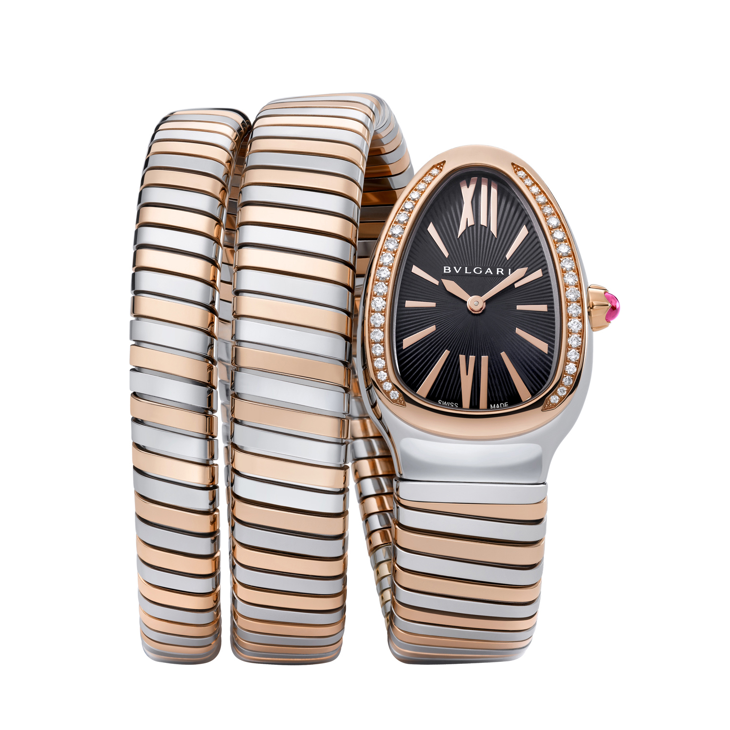 Bulgari Serpenti Tubogas Two Tone Diamond Watch