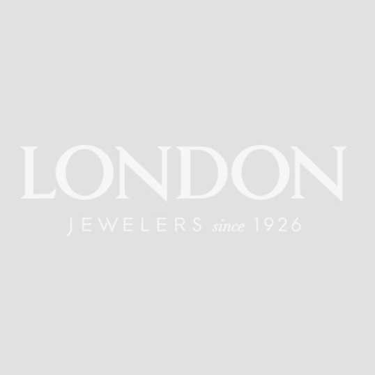 London Collection White Gold Double Circle Drop Earrings