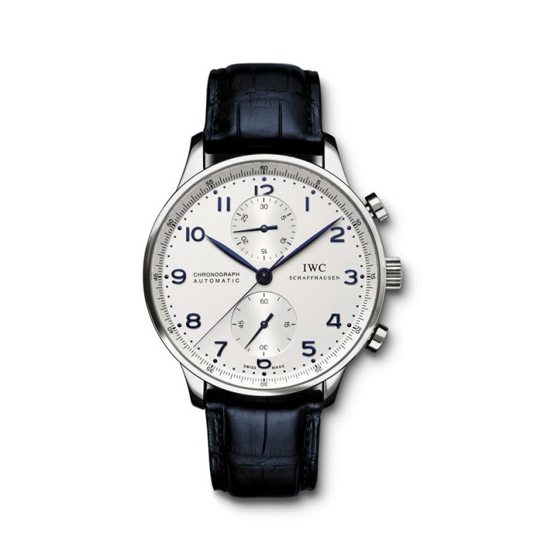 alt:text IWC Portugieser Stainless Steel Chronograph