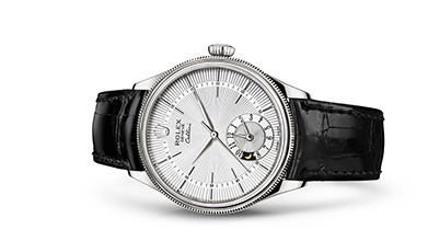 CELLINI DUAL TIME 39 mm, 18 kt white gold, polished finish