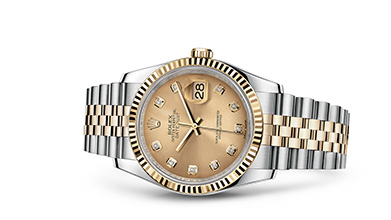 DATEJUST 36 Oyster, 36 mm, steel and yellow gold