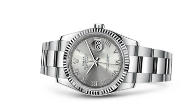 DATEJUST 41 Oyster, 36 mm, Oystersteel and white gold