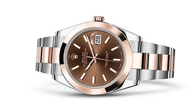 DATEJUST 41 Oyster, 41 mm, steel and Everose gold
