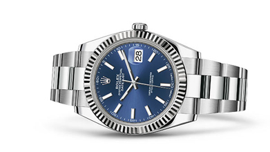 DATEJUST 41 Oyster, 41 mm, Oystersteel and white gold