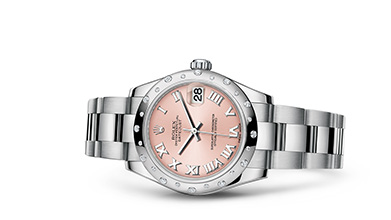 DATEJUST 31 Oyster, 31 mm, steel, white gold and diamonds
