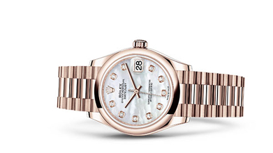 DATEJUST 31 Oyster, 31 mm, Everose gold