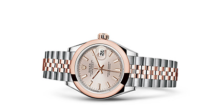 LADY-DATEJUST 28 Oyster, 28 mm, steel and Everose gold