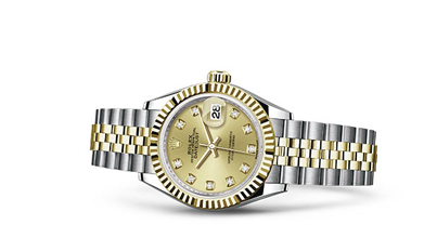LADY-DATEJUST 28 Oyster, 28 mm, Oystersteel and yellow gold