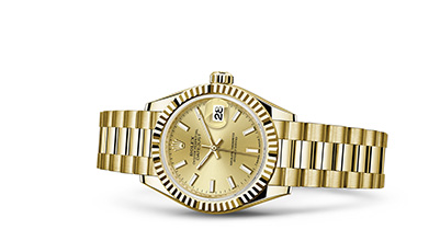 LADY-DATEJUST 28 Oyster, 28 mm, yellow gold
