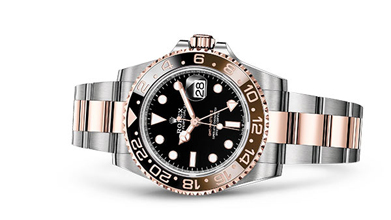 GMT-MASTER II Oyster, 40 mm, Oystersteel and Everose gold