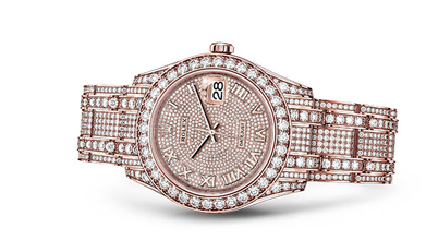 PEARLMASTER 39 Oyster, 39 mm, Everose gold and diamonds