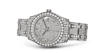 PEARLMASTER 39 Oyster, 39 mm, white gold and diamonds