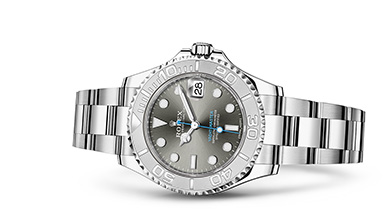 YACHT-MASTER 37 Oyster, 37 mm, steel and platinum