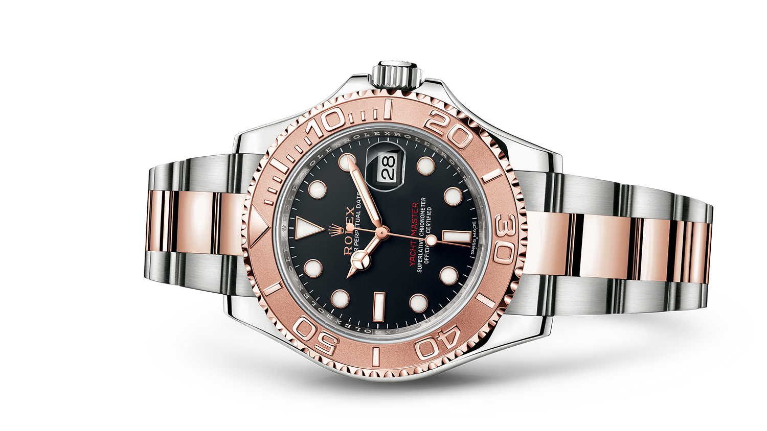 YACHT-MASTER 40 Oyster, 40 mm, steel and Everose gold