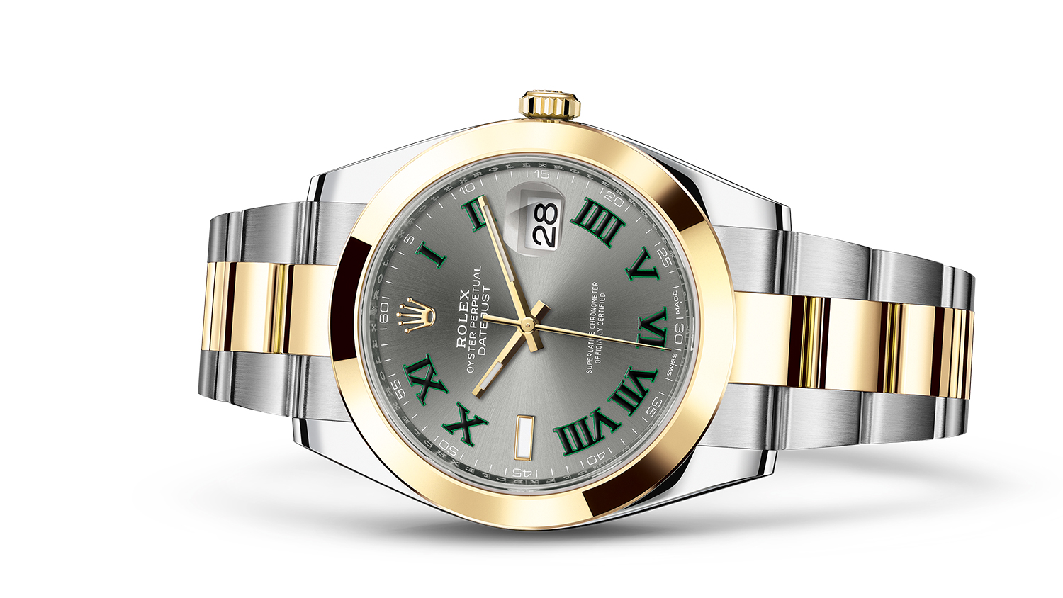DATEJUST 41 Oyster, 41 mm, steel and yellow gold
