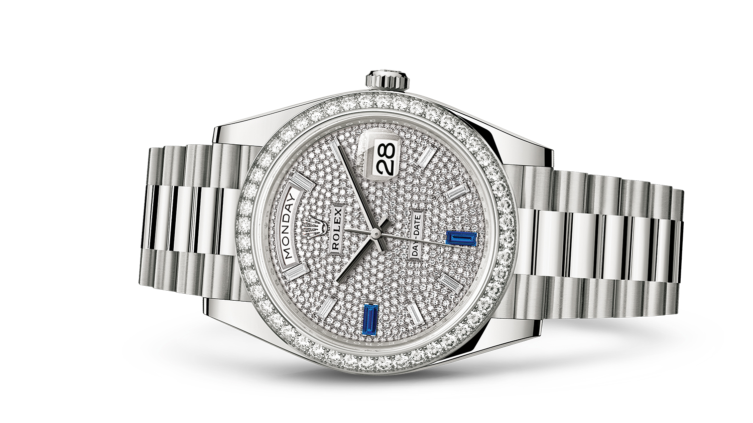 DAY-DATE 40 Oyster, 40 mm, white gold and diamonds